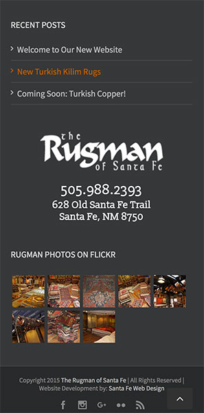 Rugman Mobile Footer