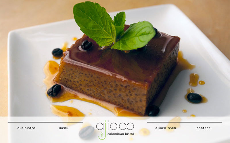 Web Design Project - Ajiaco Colombian Bistro