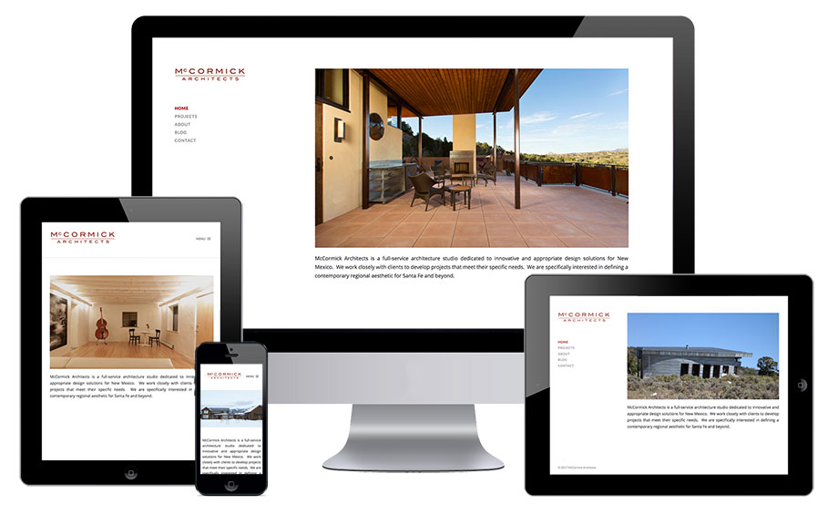 web design project - mccormick architects