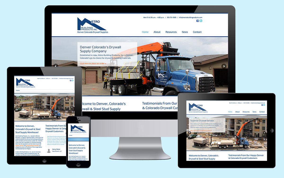 Santa fe website design project metro building products for Building design website