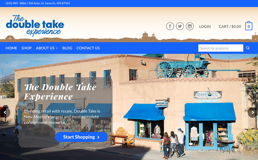Web Design Project - Santa Fe Double Take